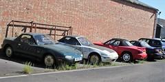 MX-5 line-up (Nivek.Old.Gold) Tags: 1590cc 1830cc 1597cc 1991 eunos roadster mazda mx5 1994 1990