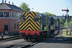 """British Railways Green Class 08, D3022 & Class 09/0, D4100 """"Dick Hardy"""" (37190 """"Dalzell"""") Tags: br britishrailways green shunter rods gronk ee englishelectric class08 class09 class090 d3022 13022 08015 d4100 dickhardy 09012 svr severnvalleyrailway dieselgala kidderminster"""