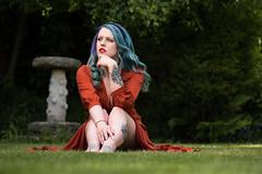 Beth (MX Man) Tags: professional female model strobist garden grass walsall england good d 600 b m fuji x t 2 50 140 f 28 w r