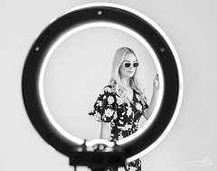 Behind the scenes at The Iconic (sugarbellaleah) Tags: model behindthescenes ringlight studioshoot studio woman fashion beautiful dress sunglasses accessories style grace blonde female fabulous