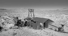 Double Boiler (joeqc) Tags: nevada nv nye mine mining monochrome mono xf1024f4r xe3 greytones black bw blancoynegro blackandwhite boiler double abandoned forgotten rurex