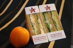 Cheap dinner (Can Pac Swire) Tags: central london uk great britain british unitedkingdom city centre center holborn 2016aimg2243 sandwich orange pretamanger egg salad quik meal dinner