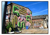 STREET ART by HNRX (StockCarPete) Tags: hnrx streetart londonstreetart urbanart graffiti london uk matches mural bluebin brickwork