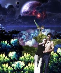 Honeymoon - By SilviAne Moon. (Silviane Moon) Tags: arte digitalart digitalcollage digitalpainting futuristic honeymoon photomanipulation planetas planets planetspace space surreal surrealart surrealism surrealismo surrealistic surrealfantasy art silvianemoon silvianemoonart