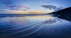 Wednesday evening blues (pauldunn52) Tags: southerndown glamorgan heritage coast wales sunset wet sand patterns pink cliffs sky dunraven beach