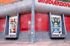 """Roma. Ostia. Poster art by Collettivo900: Elia900 and Leonardo Crudi for """"I Muri di Carta"""" project (R come Rit@) Tags: italia italy roma rome ritarestifo photography streetphotography urbanexploration exploration urbex streetart arte art arteurbana streetartphotography urbanart urban urbanculture wall walls wallart graffiti graff graffitiart muro muri artwork streetartroma streetartrome romestreetart romastreetart graffitiroma graffitirome romegraffiti romeurbanart urbanartroma streetartitaly italystreetart contemporaryart artecontemporanea artedistrada underground ostia poster posterart colla glue paste pasteup imuridicarta project collettivo900 elia900 elianovecento inopportuno agitprop leonardocrudi"""