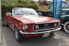Ford Mustang Cabriolet (Monde-Auto Passion Photos) Tags: voiture vehicule auto automobile ford mustang cabriolet convertible roadster spider red rouge sportive ancienne classique rassemblement evenement france courtenay