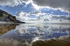 Here comes the sun again (pauldunn52) Tags: sky beach reflection whitmore stairs glamorgan heritage coast wales wet sand cliffs