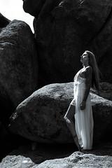 Elizabeth Long White dress on boulders (1 of 7)-2 (Colby Files Photography) Tags: colbyfiles elizabethkowalski arizona artmodel artnude artisticnude boulders cave headdress indianheaddress nude prescott thecolbyfiles