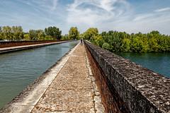 Pont canal du Cacor (Lucille-bs) Tags: europe france occitanie tarnetgaronne moissac tarn pont myad perspective pontcanal