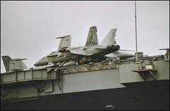 BOEING F/A-18C HORNET (Fleet flyer) Tags: unitedstatesnavy usn navalaviation usnavy boeing fa18c hornet boeingfa18chornet boeingfa18c fa18chornet aircraftcarrier portsmouth solent ussharrytruman ussharrytrumancvn75 cvn75 hampshire