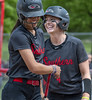 Should you cry or laugh after to you hit a home run a couple feet foul? (acase1968) Tags: sou softball paige leeper tayler walker after foul home run southern oregon university raiders ashland laugh smile smiles helmet visor nikon d500 nikkor 70200mm f4g