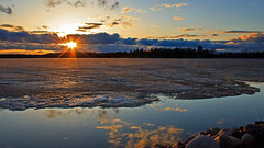 'Our Star' Burst @ Sunset (Bob's Digital Eye) Tags: april2018 bobsdigitaleye canon canonefs1855mmf3556isll clouds flicker flickr h2o lake lakesunsets lakescape skies sunsets t3i water frozenlake ice spring2018 springthaw laquintaessenza reflections