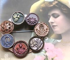 Victorian button brooch. (AlliesAdornments) Tags: antiquebuttonbrooch victorianbuttons victorianbrooch edwardianbrooch buttons victorian edwardian 1900s antique