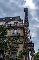 Looking up in Paris (Tormod Dalen) Tags: smcpentax2835 paris eiffel tower tour haussmann boulevard city ville architecture