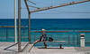 At the seaside. (CWhatPhotos) Tags: cwhatphotos waters 2018 april digital camera pictures picture image images photo photos foto fotos that have which contain olympus seafront golden coast beach blue sky skies sunny day holiday cyprus eastern protaras water sea deep color colour 43 micro four thirds penf woman female sit sitting looking out