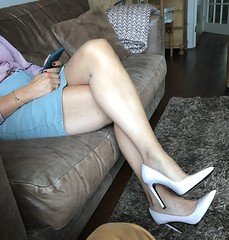 MyLeggyLady (MyLeggyLady) Tags: hotwife sexy milf teasing secretary miniskirt thighs cfm stiletto pumps legs heels