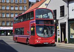 37230. YN08 LCK: First South Yorkshire (chucklebuster) Tags: yn08lck first south yorkshire doncaster transport volvo b9tl wright gemini