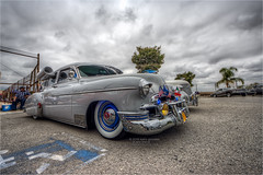 1949 chevy deluxe (pixel fixel) Tags: 1949 bluelight chevrolet deluxe flags football fundraiser gray reflectionscc reflectionsccfootball tweakedpixels whittier whittierhighschool ©2018kathygonzalez