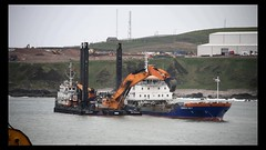 Goliath & Cornelis Lely - Aberdeen Harbour Expansion Project Scotland - 23/5/2018 (DanoAberdeen) Tags: engineering construction niggbay candid amateur 2018 danoaberdeen harbour seafarers scotland summer scotia schotland skottland cargoships outside outdoors winter water workboats wasser shipspotters shipspotting tug tugboats offshore vessels seaport oilships oilrigsupplyships supplyships psv abz abdn gb uk goliath dredgers dredging mpeg video ahep aberdeenharbourexpansionproject 1080p dredger