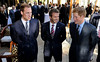 Prince William speaks to David Beckham (C) and Prince Harry (R) at an FA reception at the Saxon Hotel on June 19, 2010 in Johannesberg, South Africa. (Photo by Luca Ghidoni