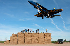 Blue Angel One Over the Haybales (dunn747) Tags: select blue angels hornet navy usn display team