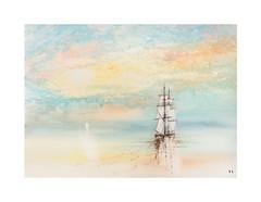 Marine (Yvan LEMEUR) Tags: watercolour acuarela peinture ciel voilier voile aquarelle marine mer sea