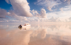 Early Morning at Tinabo Island (syukaery) Tags: sunrise landscape nikon d750 nikkor indonesia selayar takabonerate tinabo nationalpark seascape boat clouds reflection 1635mm beach island vsco vscofilm