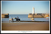 Friendship (Kyle TKT) Tags: frends friendship horse horses beach water sand lighthouse pier donaghadee sea ocean sky rider jockey girls boats horizon