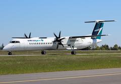 C-FTEN WestJet Encore Bombardier Q400@YYJ 5May18 (Spotter Brandon) Tags: cgten westjet westjetencore encore bombardier q400 dash8 bombardierq400 yyj cyyj victoria new newaircraft