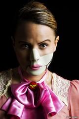 Uncomfortable... (Ring of Fire Hot Sauce 1) Tags: cosplay drpoison meganmartine wonderwoman portrait wondercon light shadow