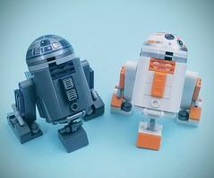 R2-Q2 and R2-B8 (Veynom) Tags: starwars lego moc droid r2d2 bb8 r2q2