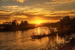 Sunrise Over  Payette River (http://fineartamerica.com/profiles/robert-bales.ht) Tags: emmett freshwater haybales idaho people photo places states sunsetorsunrise sunrise sunset treasurevalley gemcounty floodingriver payetteriverreflections river scenic water scenicbiway blue americaphotography northamericaphotography pacificnorthwestphotography idahophotography beautiful sensational spectacular scenicriverphotography riverphotography panoramic awesome magnificent peaceful surreal sublime magical spiritual inspiring inspirational canonshooter red clouds robertbales