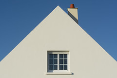 Window and chimney (Jan van der Wolf) Tags: map174244v schoorsteen chimney window raam house huis geometric geometry geometrisch geometrie white wit architecture architectuur