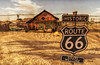 On the road (Milla DelRay) Tags: sl secondlife desert hut huts nature route66 shadow shadows car cars motherroad