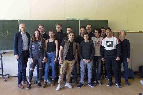 Zum EU-Projekttag an Schulen habe ich mit SchülerInnen der OBS Alexanderstraße über Politik diskutiert.