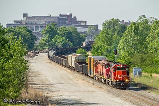 IC 9563 | EMD GP38-2 | CN Memphis Subdivision