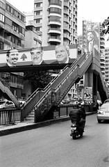 Elections on Beirut (Simenza) Tags: beirut libano lebanon liban street biancoenero bw noiretblanc analogica urban