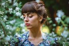 Lilla (Piller György) Tags: portrait portré people pretty beauty bokeh brown flower fashion posing moody