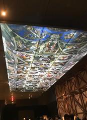 Sistine Chapel ceiling projection (Hiero_C) Tags: italy newyork metropolitanmuseum michelangelo exhibition drawing cappellasistina sistinechapel