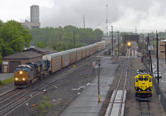 Busy Morning at CP 5 (Erie Limited) Tags: csx riversub csxriversubdivision ge et44ah ridgefieldparknj nysw susquehanna sd33eco nysw3012 train railfan railroad
