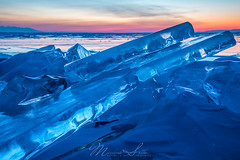 Blue Ice morning (Massimo Sotto) Tags: adventure arctic baikal blue cold crystal dawn frost frozen ice irkutsk irkutskregion lake landscape march nature nobody olkhon outdoor russia siberia snow sunrise travel winter