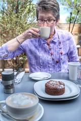 Nice coffee and chocolate hazelnut torte at Sage Bakery in Santa Fe, NM...     #portraitphotography #portrait #coffee #torte #santafe #newmexico #fuji #fujifilm #x100f #35mm (vrot01) Tags: portraitphotography portrait coffee torte santafe newmexico fuji fujifilm x100f 35mm