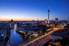 Blaues B. (Blende4.0) Tags: berlin germany alex rotes rathaus berliner dom marienkirche fischerinsel spree architektur langzeitbelichtung twilight