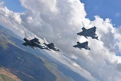 Ensayos Día de las Fuerzas Armadas (Ejército del Aire Ministerio de Defensa España) Tags: caza jet fighter logroño nubes vuelo flight eurofighter ala14 flying fighters formation diamond cloud