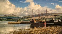 Vital Spark1 (grahamd4) Tags: inverrary scotland boats mountains lochfyne landscape fuji hs10