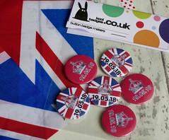 British Royal Wedding Button Badges (koolbadges) Tags: royalwedding unionjack flag british prince princess celebrate 25mm badges wedding pins pinbadge handmade