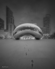 CAMOUFLAGE (Nenad Spasojevic) Tags: sunrise light monochrome 2018 cloud cold voigtlander downtown milleniumpark winter nenadspasojevic bw drama heliar foggy sonyimages a7rii snow exploration cloudgate blackandwhite sonyalpha morning snowy chicago nenadspasojevicart camouflage fineart illinois il usa