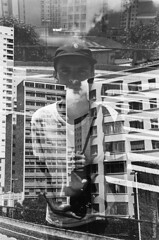 (Beatriz_Roveri) Tags: canonrebel2000 film 35mm kodak tx trix 400iso pb bw black white overlap double exposure building