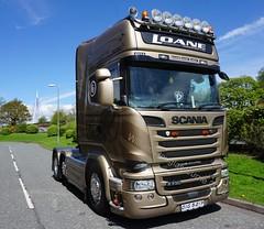 Loane Transport. (stonetemplepilot5) Tags: loanetransport scaniagoldengriffin r730 oig5217 gold scotland sony scania sonya6000 a6000 sonyflickraward sonyalpha truck transport tractorunit kfc